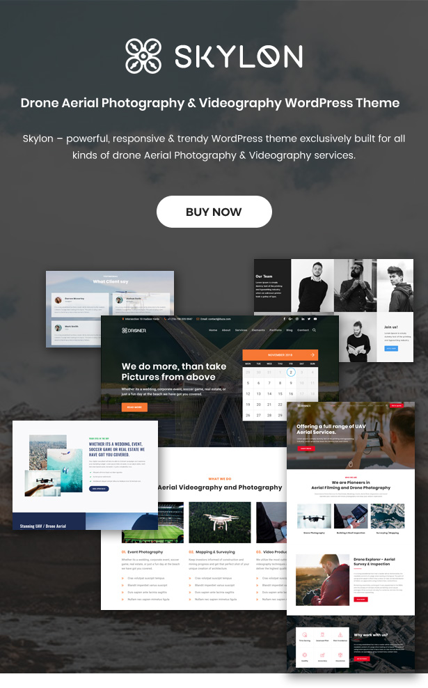 Skylon - Drone Aerial Photography & Videography WordPress Theme - 1