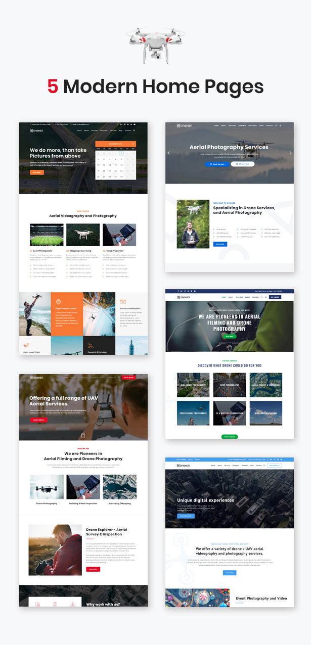 Skylon - Drone Aerial Photography & Videography WordPress Theme - 2